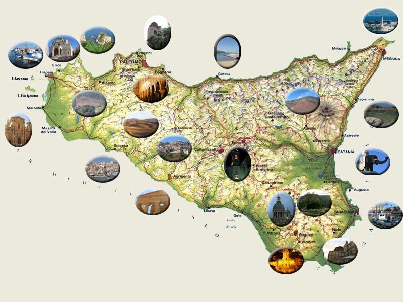 Harta Siciliei Cu Provinciile Hartaeuropa
